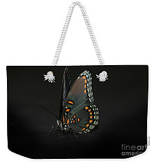 Weekender Tote Bag featuring the photograph Drying Wings by Judy Hall-Folde