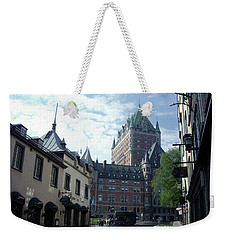 Weekender Tote Bag featuring the photograph du Fort Chateau Frontenac by John Schneider