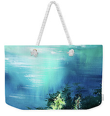 Weekender Tote Bag featuring the painting Duality by Anil Nene
