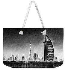 Dubai Cityscape Drawing Weekender Tote Bag