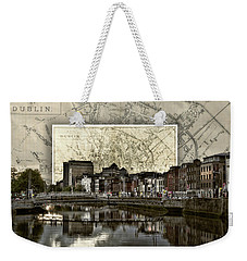 Dublin Skyline Mapped Weekender Tote Bag