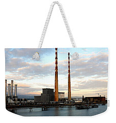 Dublin's Poolbeg Chimneys Weekender Tote Bag