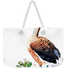 Duck And Daisies Weekender Tote Bag by Sandra Moore