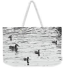 Duck And Ducklings Weekender Tote Bag