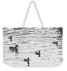 Duck And Ducklings Weekender Tote Bag