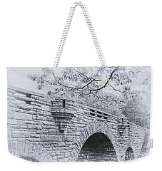 Duck Brook Bridge In Black And White Weekender Tote Bag