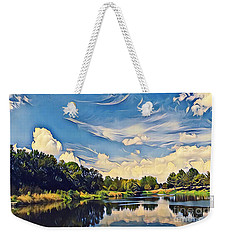 Weekender Tote Bag featuring the photograph Duck Creek by Diane Miller