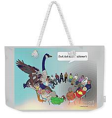 Duck, Duck, Alzheimers Weekender Tote Bag