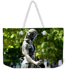 Duck Girl In Rittenhouse Square Weekender Tote Bag