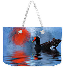 Duck In A Pond Weekender Tote Bag by Cyndy Doty