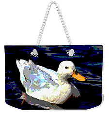 Duck In Water Weekender Tote Bag by Charles Shoup