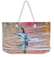 Duck On An Autumn Pond In The Chesapeake Bay Maryland Weekender Tote Bag