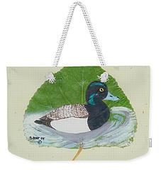 Duck On Pond #2 Weekender Tote Bag