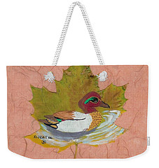 Duck On Pond Weekender Tote Bag