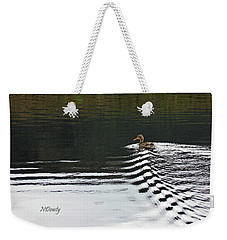 Duck On Ripple Wake Weekender Tote Bag
