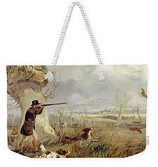 Duck Shooting  Weekender Tote Bag