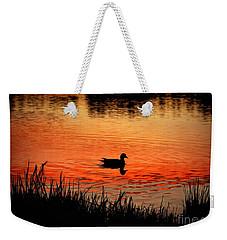 Duck Silhouette Weekender Tote Bag
