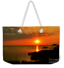 Duck Sunset Outer Banks North Carolina Weekender Tote Bag by Randy Steele