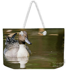 Duck Swimming, Front Portrait. Weekender Tote Bag
