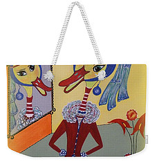 Duck With A Sapphire-pearl Earring Weekender Tote Bag