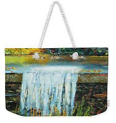 Ducks And Waterfall Weekender Tote Bag by Michael Daniels