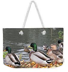 Ducks By The Pond Weekender Tote Bag