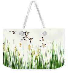 Ducks In Flight - Migration  Weekender Tote Bag