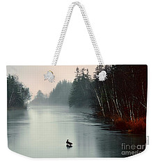 Ducks On A Frozen Pond Weekender Tote Bag