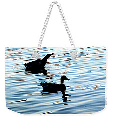 Ducks In The Evening Weekender Tote Bag
