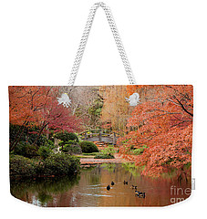 Ducks In The Pond Weekender Tote Bag by Iris Greenwell