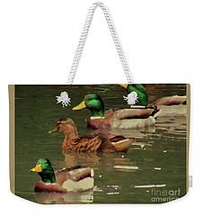 Ducks Race Weekender Tote Bag by Kim Tran