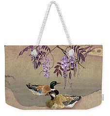 Ducks Under Wisteria Tree Weekender Tote Bag