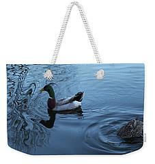 Weekender Tote Bag featuring the photograph Mallard Duck by Melinda Blackman