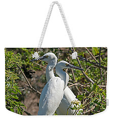 Dueling Egrets Weekender Tote Bag by Kenneth Albin