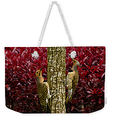 Dueling Woodpeckers Weekender Tote Bag