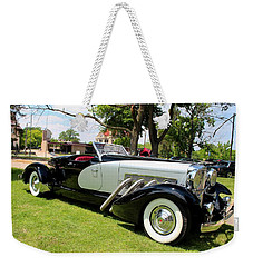 Weekender Tote Bag featuring the photograph Duesenberg Vii by Michiale Schneider