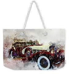 Duesenberg Watercolor Weekender Tote Bag