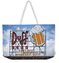 Duff Beer Sign Weekender Tote Bag by Wade Brooks