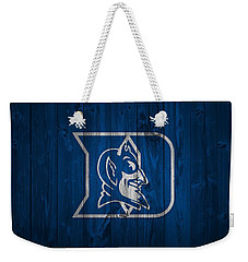 Duke Blue Devils Barn Door Weekender Tote Bag by Dan Sproul