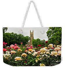 Duke Chapel And Roses Weekender Tote Bag