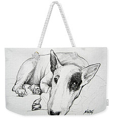 Weekender Tote Bag featuring the painting Duke by Jindra Noewi