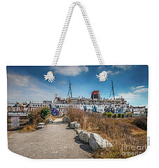 Weekender Tote Bag featuring the photograph Duke Of Lancaster Graffiti by Adrian Evans