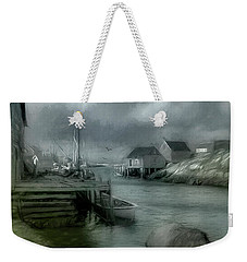 Dull Fall Day In Peggys Cove Weekender Tote Bag
