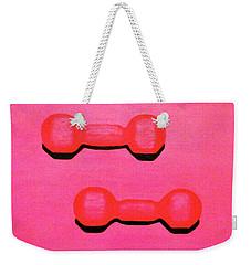 Dumb-bells Weekender Tote Bag by Lorna Maza