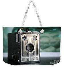 Weekender Tote Bag featuring the photograph D'un Autre Temps...vintage Art Deco Brownie  by Lynn England