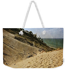 Weekender Tote Bag featuring the photograph Dune And Blue Sky 2.0 by Michelle Calkins