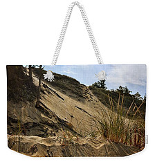 Weekender Tote Bag featuring the photograph Dune And Blue Sky by Michelle Calkins