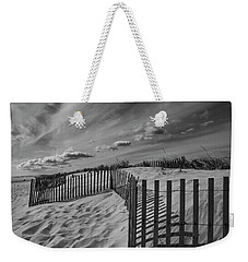 Dune And Snow Fence Weekender Tote Bag