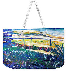 Weekender Tote Bag featuring the painting Dune Grasses by Winsome Gunning