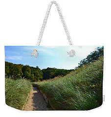 Weekender Tote Bag featuring the photograph Dune Path At Laketown by Michelle Calkins